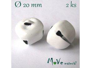 Rolničky bílé 20mm, 2ks