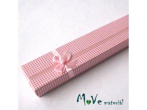 Krabička na šperky - 20,5x4,5x2,5cm, růžová