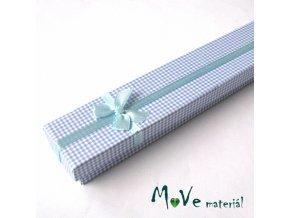 Krabička na šperky - 20,5x4,5x2,5cm, modrá