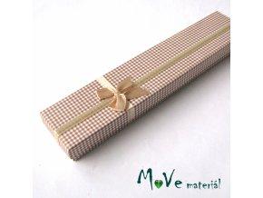 Krabička na šperky - 20,5x4,5x2,5cm, béžová