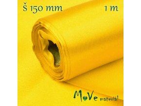 Satén š.15 cm/ 1m, žlutý