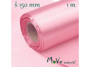 Satén š.15 cm/ 1m, růžový