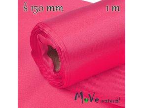 Satén š.15 cm/ 1m, neon. růžový