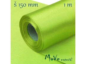Satén š.15 cm/ 1m, sv. zelený