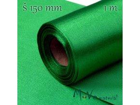 Satén š.15 cm/ 1m, tm. zelený