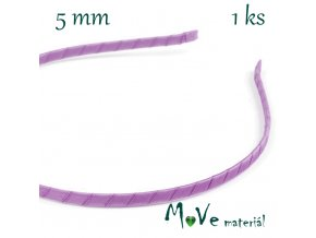 Čelenka jednoduchá potažená fialová/5mm