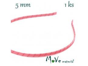 Čelenka jednoduchá potažená růžová/5mm