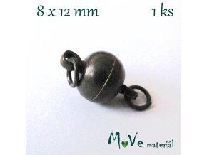 Zapínání magnetické 8x12mm 1ks, staromosaz