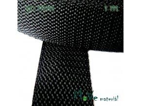 Popruh polypropylénový šíře 30mm, 1m, černý