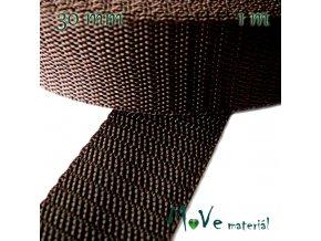 Popruh polypropylénový šíře 30mm, 1m, hnědý