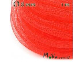 Modistická krinolína dutinka 8mm, 1m, červená