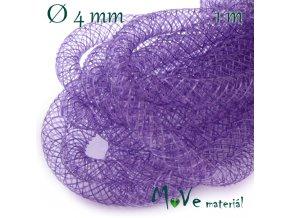 Modistická krinolína dutinka 4mm, 1m, fialová
