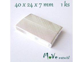 Zapínání magnetické 40x24x7mm 1ks, stříbrné