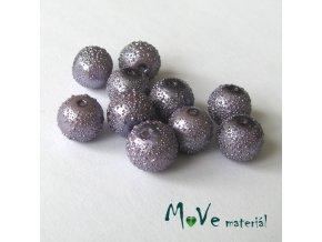 "Voskové perle ""Zigana"" 8mm, 10ks, fialové"