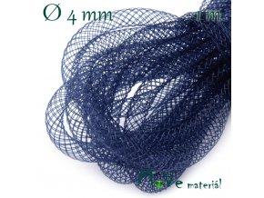 Modistická krinolína dutinka 4mm, 1m, modrá