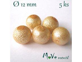 """Voskové perle """"Zigana"""" 12mm, 5ks, žluté"""