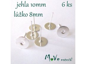 Vlepovací puzeta stříbrná 3ks (3 páry)
