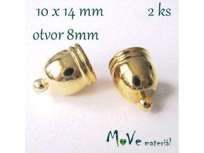 Koncovka 10x14mm, 2ks, zlatá
