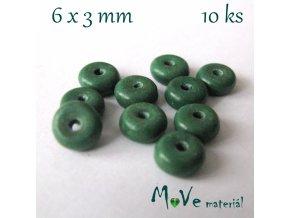 Korálky syntetický tyrkenit 6x3mm/10ks, tyrkysový V