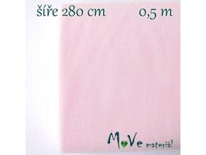 svatební tyl jemný bledě růžový 50cm/ š 280cm