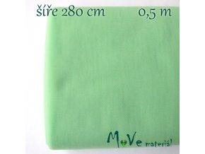 svatební tyl jemný sv. zelený 50cm/ š 280cm