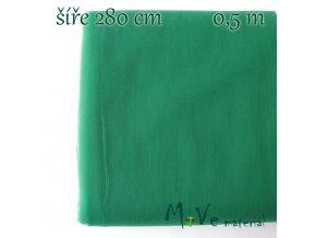 svatební tyl jemný stř. zelený 50cm/ š 280cm