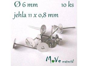 Vlepovací puzeta platina 10ks (5 párů) bez niklu