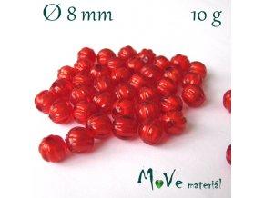 Korálek plast kulička 8mm/10g, červený