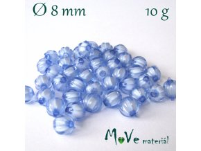 Korálek plast kulička 8mm/10g, stř. modrý