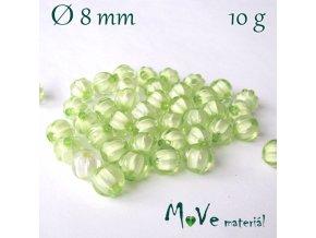Korálek plast kulička 8mm/10g, sv. zelený