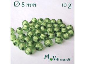 Korálek plast kulička 8mm/10g, tm. zelený