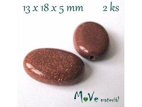 Šváb - živec (zlatý kámen) - 13x18x5mm/2ks