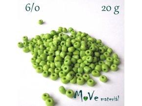 Rokajl 6/0, 20 g, zelený