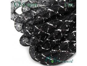 Modistická dutinka s lurexem 8mm, 1m, černá