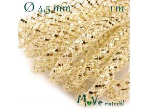 Modistická dutinka s lurexem 4,5mm, 1m, zlatá