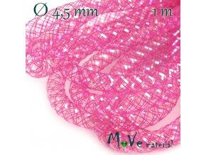 Modistická dutinka s lurexem 4,5mm, 1m, růžová