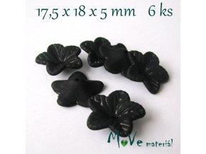 Akrylový květ 18mm - 6ks, černý
