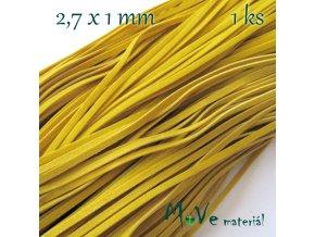 Plochá syntetická kůže, 1m, žlutá