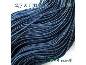 Plochá syntetická kůže, 1m, modrá