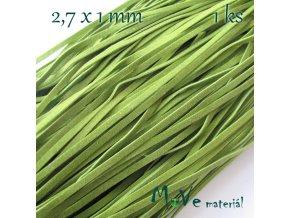 Plochá syntetická kůže, 1m, olivová