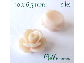 Kabošon květ lesklý C4 - resin - 2ks, tělový