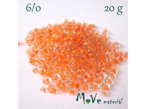 Rokajl s průhmatem 6/0, 20 g, oranžový