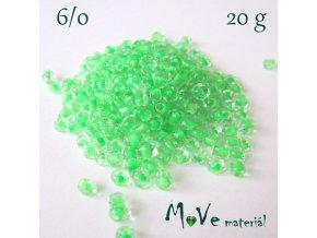 Rokajl s průhmatem 6/0, 20 g, zelený