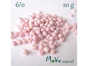 Rokajl perleťový 6/0, 20 g, pudrový