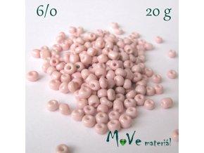 Rokajl perleťový 6/0, 20 g, sv. růžový