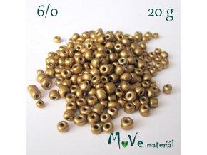 Rokajl perleťový 6/0, 20 g, tmavě zlatý