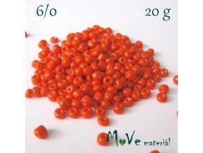 Rokajl 6/0, 20 g, oranžový
