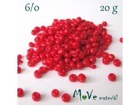Rokajl 6/0, 20 g, červený