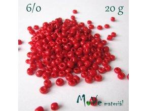 Rokajl 6/0, 20 g, červený II