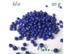 Rokajl 6/0, 20 g, tm. modrý